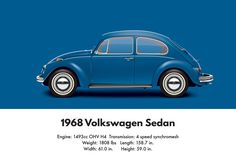 VW Beetle 1968 sedan