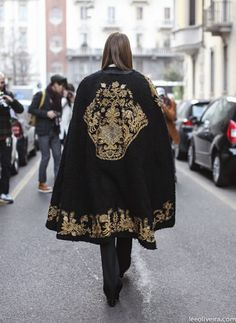 embroidery cape