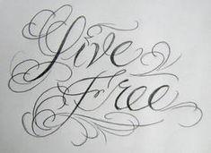 Live Free Tattoo, Free Tattoo Fonts, Tattoo Lettering Fonts, Lettering Styles, Lettering Ideas, Typography, Arrow Stencil, Graffiti Alphabet Styles, Doodle Alphabet