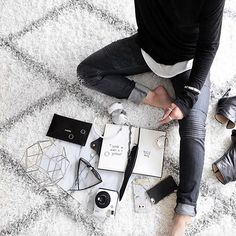 Life is about balancing the organized with the chaos. #HudsonWasHere <The Versa Style in Hudson Moto Skinnies>