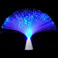 Battery Operated Blue Color Fiber Optic Novelty Lamp, Modern Home Decor Glow In Dark Party, Glow Party, Disco Party, Led Centerpieces, Marching Band Mom, Fiber Optic Lighting, Galaxy Wedding, Galaxy Theme, Online Gift Store