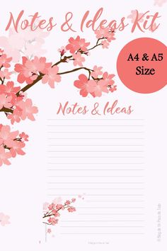 Today, for my (late) Freebie Friday I share with you a cute Notes & Ideas Kit, inspired on the famous Sakura trees from Japan.