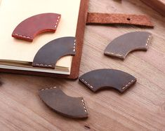 Set of 2 Personalized Bookmark, Handmade Rustic Leather Bookmark for books,Genuine Leather Corner Page Marker, Handmade Memo Stationery Gift - Bookmarks Personalized Leather Art, Leather Design, Leather Tooling, Leather Jewelry, Leather Wallet, Leather Totes, Distressed Leather, Leather Purses, Custom Leather