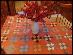 Love the Quilt used as a tablecloth! MattandShari.com