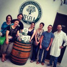 Esta tarde nos han visitado @epicureos_es ¡Un placer! #somosartesanos #ExperimentaTesela #arandadeduero