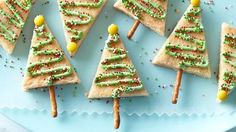 Easy Christmas Tree Cookie Bars