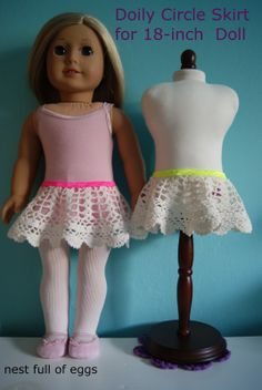 Doily Circle Skirt for 18-inch Doll