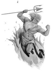 Poseidon Tattoo Designs   MadSCAR More