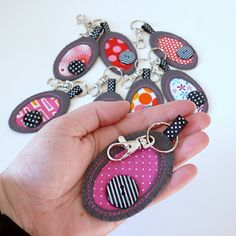Felt And Fabric Pebble Key Ring by paper-and-string, the perfect gift for Explore more unique gifts in our curated marketplace. Sewing Crafts, Sewing Projects, Diy Keychain, Key Fobs, Key Chain, Love Sewing, Craft Sale, Make And Sell, Felt Crafts