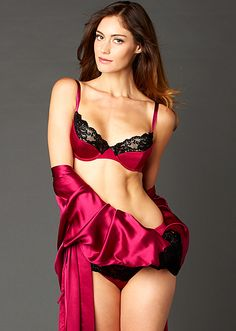 6854bf7abbe Indulgence Silk Demi Bra - Laced Trim