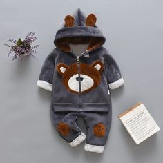 Baby Outfits Newborn, Baby Boy Outfits, Unisex, Baby Boy Clothing Sets, Infant Clothing, Pull Bebe, Winter Baby Clothes, Bear Hoodie, Motifs Animal