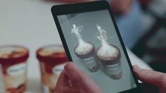 Haagen Dasz - A campaign with augmented reality app that makes you wait for a perfect scope of ice creem