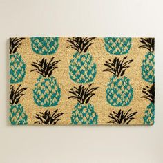 One of my favorite discoveries at WorldMarket.com: Blue Pineapple Doormat