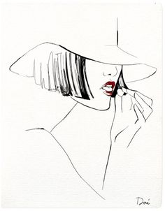 Garance Dore Fashion Illustrations..figurative silhouette idea
