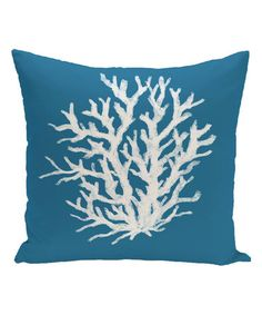Look what I found on #zulily! Blue Coral Reef Throw Pillow #zulilyfinds