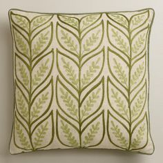 New Spring Collection featuring Cost Plus World Market's Green Sprouts Throw Pillow >> #WorldMarket Home Decor Ideas