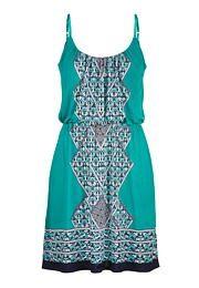 ethnic print dress -
