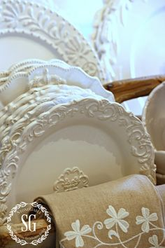 WHITE DISHES... FARMHOUSE STYLE