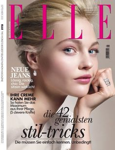 Sasha Pivovarova covers the September 2012 cover of #Elle #Germany.