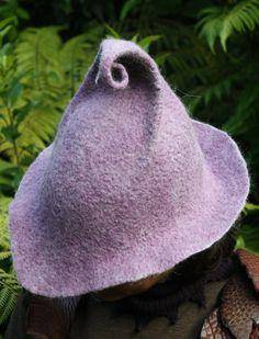 Lilac Flower Hat by MudWoodArts on Etsy