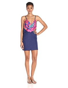 Mara Hoffman Women's Flower Embroidery Dress, Indigo, Large- #fashion #Apparel find more at lowpricebooks.co - #fashion