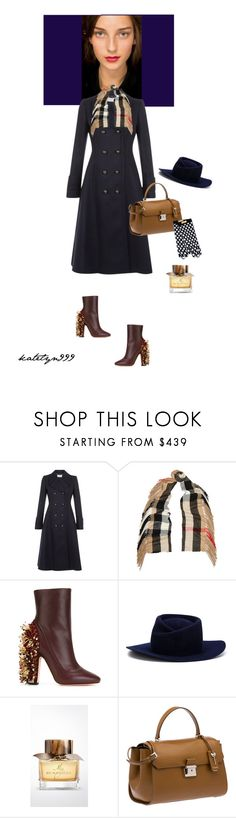 """""""Feelin' fabulous..."""" by katelyn999 ❤ liked on Polyvore featuring Burberry, Hobbs, Rochas, Gladys Tamez Millinery, Miu Miu, Boutique Moschino and fall2015"""
