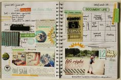 2012 : Captured // June lesson with Lisa Truesdell and guests - using stamps.  #scrapbooking #projectlife