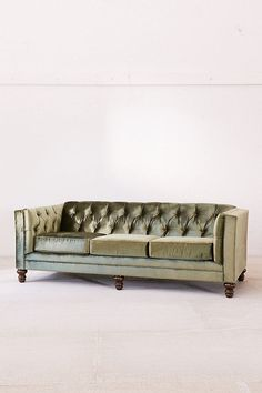 Slide View: 2: Graham Velvet Sofa