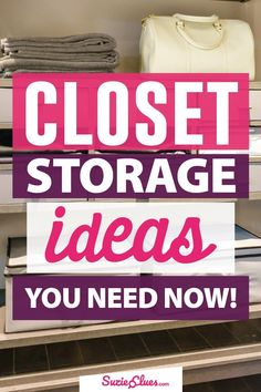 Your Closet is a mess! Wouldn't it be nice to have everything neatly organized? Here you can find some amazing closet storage solutions that will maximize your closet space. Linen Closet Organization, Organisation Hacks, Diy Organization, Organizing Tips, Closet Shelves, Closet Storage, Small Linen Closets, Closet Remodel, Declutter Your Home