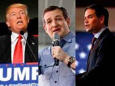 Donald Trump, Ted Cruz y Marco Rubio