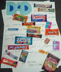 Does your Dad have a sweet tooth? Make him a Candy-Gram poster or card!