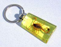 Schlüsselanhänger mit Skorpion (gelb)
