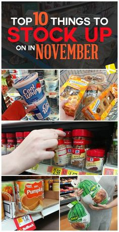 Top 10 Things to Stock Up on in November