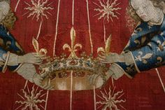 canopy from the throne of Charles VII of France, wool and silk, attrib. Jacob de Littemont, c.1425-50, Louvre OA 12281
