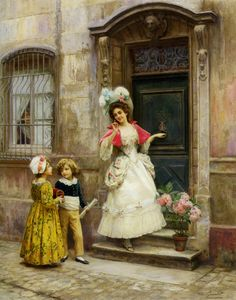 Painting by Jules Girardet (1856-1946).