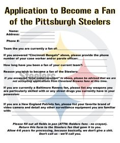 Steelers Application!