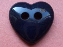 12 KINDERKNÖPFE dunkelblau 12mm (3273-4) Herz