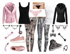 """""""Casual Trouble"""" by ravenrebelle ❤ liked on Polyvore featuring Marika, McQ by Alexander McQueen, Soaked in Luxury, Twenty, J.TOMSON, Freya, Jezebel, NIKE, Converse and Carolina Glamour Collection"""