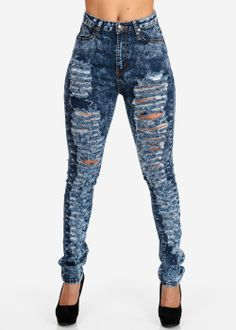 Cute High Waisted Jeans - Xtellar Jeans