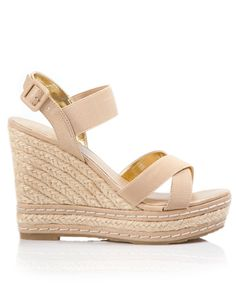 Ultra beachy, woven raffia 'Thrice' wedge. Charles by Charles David