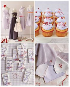Lavendar and Red Wedding Colors