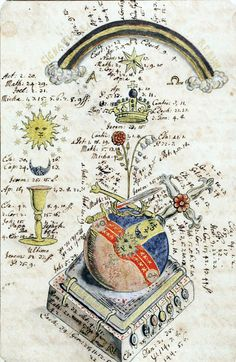 Alchemy: Alchemical manuscript From Manly Palmer Hall's Collection. Occult Symbols, Ancient Symbols, Mayan Symbols, Viking Symbols, Egyptian Symbols, Viking Runes, Globus Cruciger, Transmutation, Rose Croix