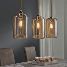 Home Design Ideas Interior Lighting, Home Lighting, Lighting Design, Industrial Lighting, Bathroom Pendant Lighting, Pendant Lamp, Room Partition Designs, Suspension Design, Luz Natural