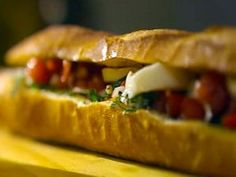 Cooking Channel serves up this Pan Bagnat recipe from Laura Calder plus many oth… - All Recipes & Vegan and other Food Network Recipes, Cooking Recipes, Cooking Bacon, What's Cooking, French Food At Home, Appetizer Sandwiches, Cold Sandwiches, Appetizers, French Sandwich