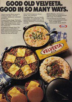 :D #Velveeta #cheese #retro #food #vintage #ad #1970s