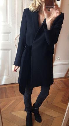 Manteau Noir via Musc Patchouli. Click on the image to see more!