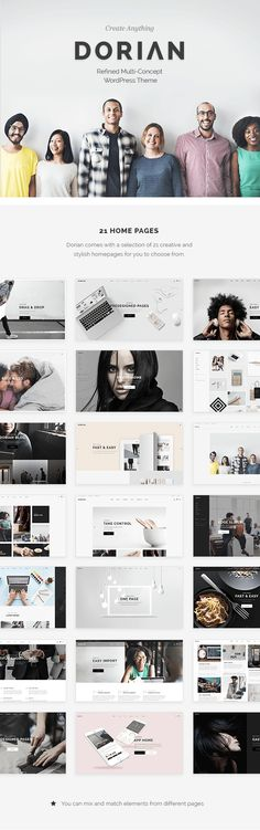 Buy Dorian - Refined Multi-Concept WordPress Theme by Edge-Themes on ThemeForest. Meet Dorian – a refined multipurpose theme ready to uplift your creative studio, photo studio, digital agency or any. App Ui Design, User Interface Design, Design Web, Premium Wordpress Themes, Wordpress Demo, Animation Types, Slider Images, Online Presentation, Font Packs
