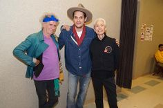 Keith, John Mayer and Charlie from the 50 & Counting tour