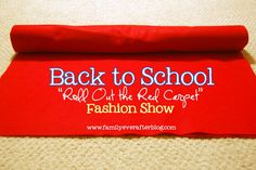 """Back to School Red Carpet Fashion Show: Emma can walk the red carpet with new clothes to show Daddy. We have recently started having Daddy approve our new clothes (or ones from last year's bin) because """"boys think differently than girls"""". Love the idea of using the runway!"""