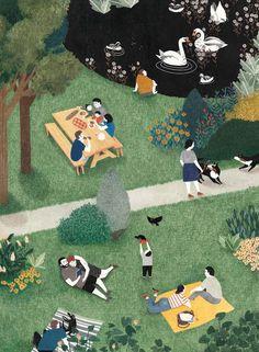 Interview: How Life Imitates Art in the Colored Pencil Illustrations of Lieke van der Vorst Colored pencil illustration by Lieke van der Vorst Guache, Polychromos, Wow Art, Parcs, Children's Book Illustration, People Illustration, Illustrations And Posters, Colored Pencils, Illustrators
